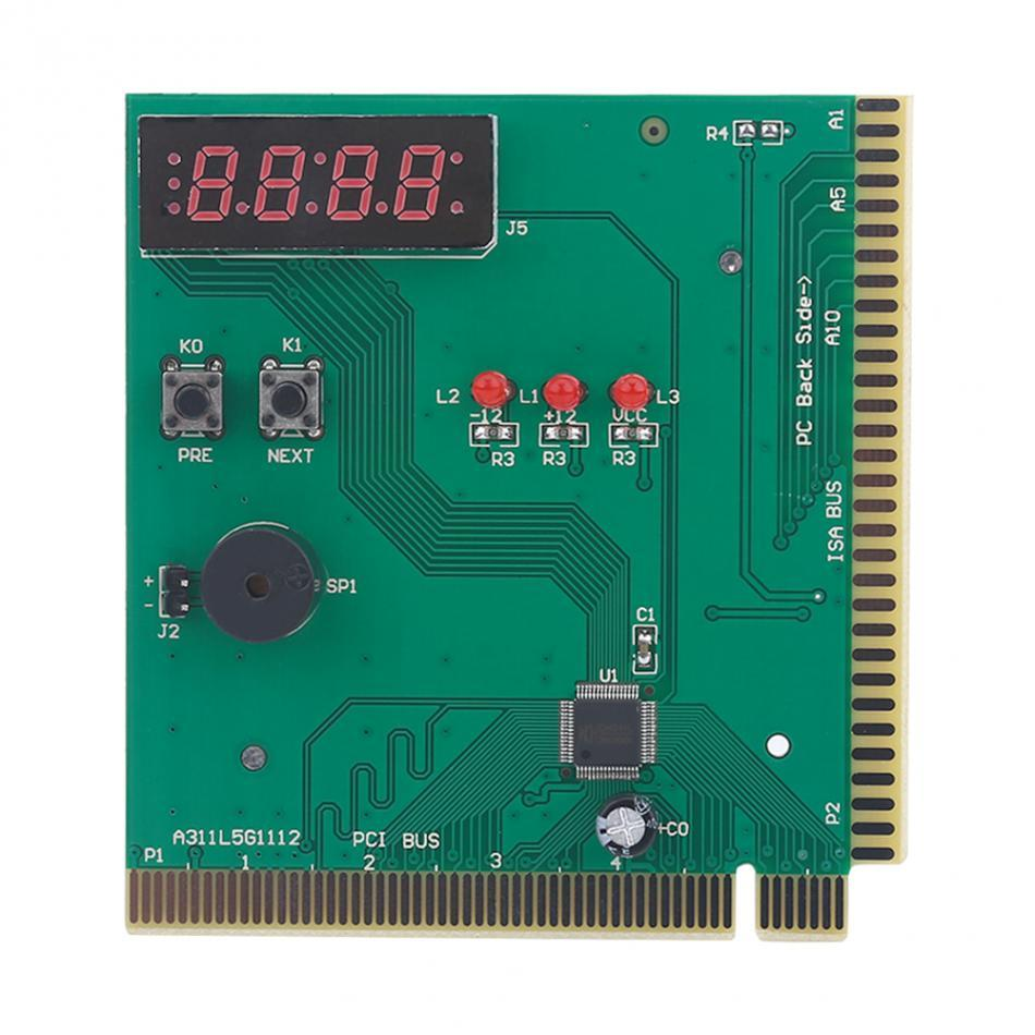 Freeshipping 10pcs 4-Digit Card PC Analyzer Computer Diagnostic Motherboard POST Tester For PCI & ISA Power On Self Test Card