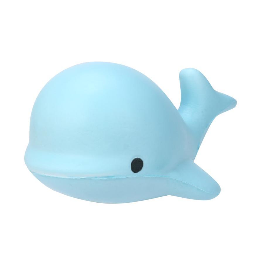 Mooistar2 #4022D 10CM Soft Whale Cartoon Squishy Slow Rising Squeeze Toy Phone Straps Puppets