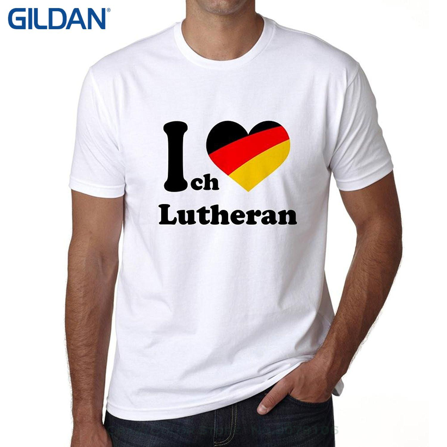 Remise en gros Populaire Style Homme T-shirt Ich Liebe Luthérien, Tshirt Hommes, J'aime City Shirt, German City Tshirt Hommes