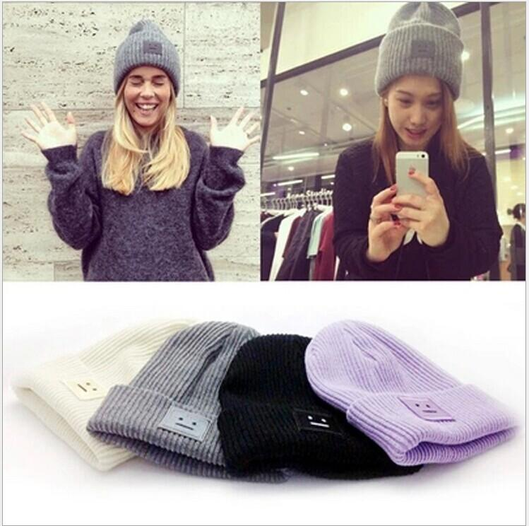 Women Hat Winter Fall Beanies Knitted Hats For Woman Rabbit Fur Cap Autumn And Winter Ladies Female Fashion Skullies Y18110503