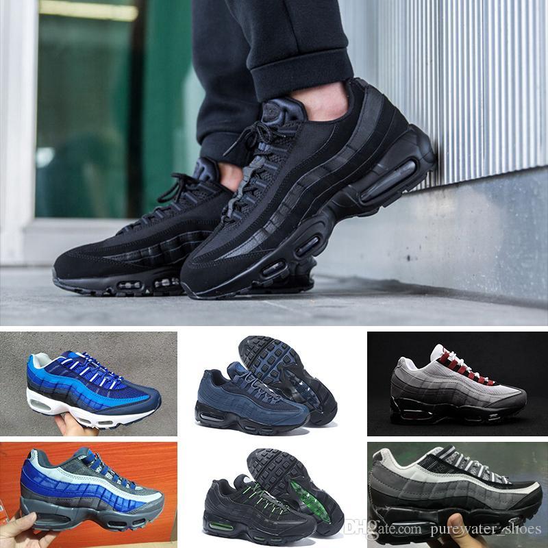 48e22c32a Acquista Trainer Sports Shoes Scarpe Da Uomo 20 ° Anniversario MID 95 Nero  Bianco Army Men Cuscino Autunno Inverno Con Cinturino Alla Caviglia Sealed  Zip ...