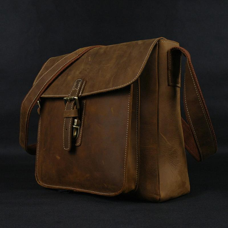 Hot Vintage Genuine Leather Messenger Bags Men Leather Shoulder Bag Men  Crossbody Bag Sling Leisure Cowboy Style Brown Big Black Handbags Luxury  Bags From ... 47843a7f2a9f6