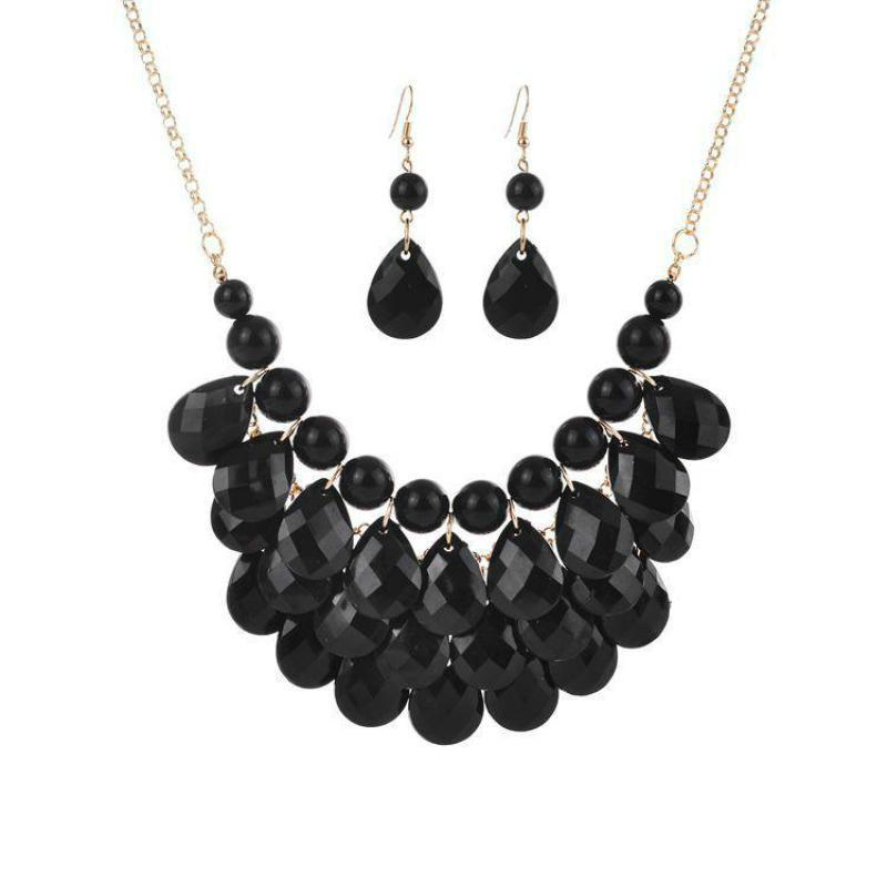 c7070795b5 Domineering Jewelry Sets Beach Style Red Black Colorful Necklace Earrings  Jewellery Sets For Women African Indian Brincos Earing Jewelry Sets Cheap  Jewelry ...