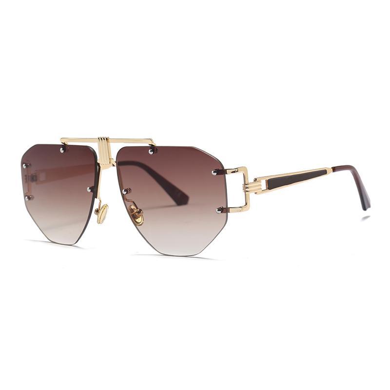 37806934328b Luxury Rimless Sunglasses Women Men Brand Designer 2018 Vintage Sun ...
