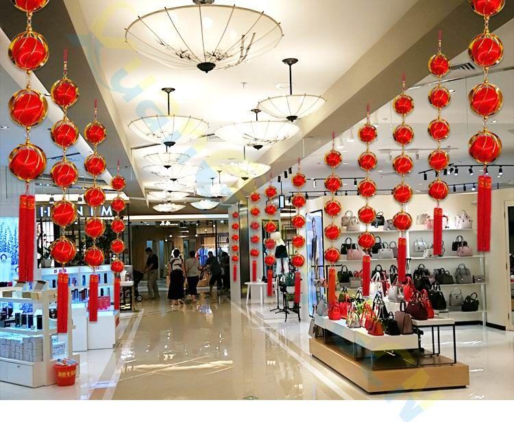 Feito à mão de Ano Novo Chinês ornamentos festivos Lanterna hortênsia festa Da Primavera pingente de festa de casamento Em Casa Decoração do partido favor