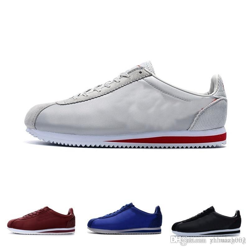 new arrival e60a8 cfe12 Compre 2018 Venta Caliente Nuevas Marcas Calzado Casual Hombre Y Mujer  Cortez Zapatos Ocio Conchas Zapatos Nylon PRM Moda De Cuero Zapatillas De  Deporte Al ...