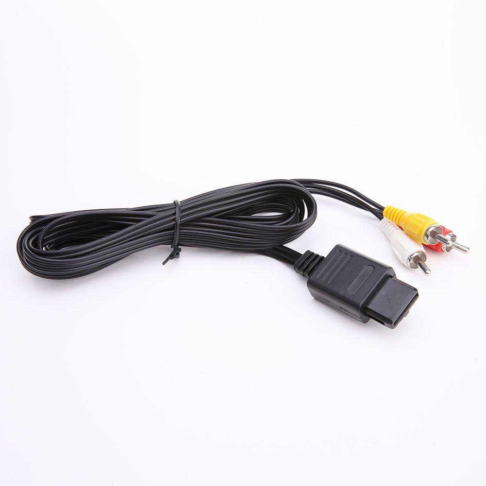 Nintendo 64 N64 GameCube NGC SNES SFC 컨트롤러 콘솔 용 최신 AV 오디오 비디오 A / V TV 케이블 코드 커넥터