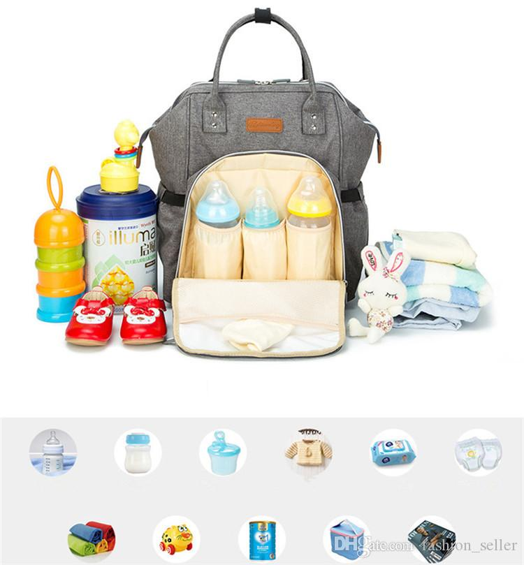 Multi-Functional Mommy Bags Nappy Backpacks Mother Backpack Diaper Bags Maternity Large Volume Outdoor Travel Tote Bags Fast Shipping
