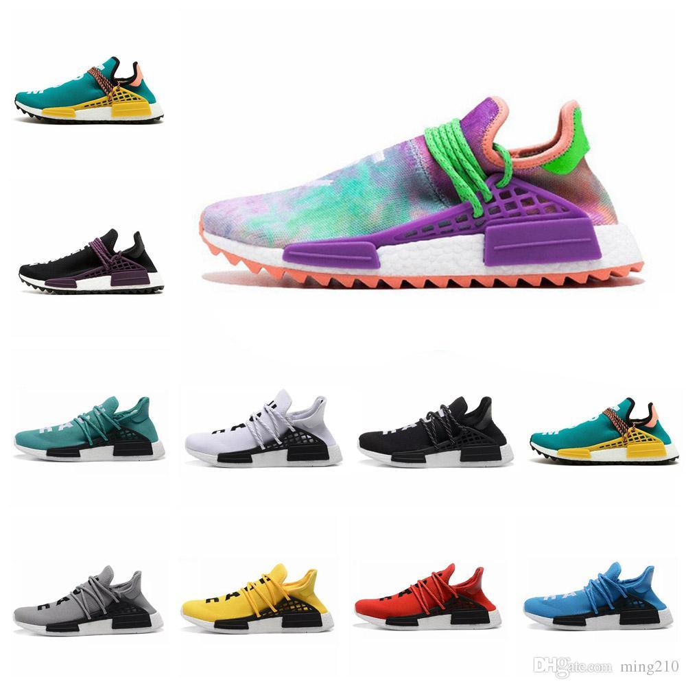 4393104ba Acquista Scarpe Adidas Nmd 2019 Pharrell Williams Nmd Razza Umana Pharrell  Williams X 2016 Nmd Scarpe Uomo Donna Scarpe Sportive Sconto Economici Moda  ...