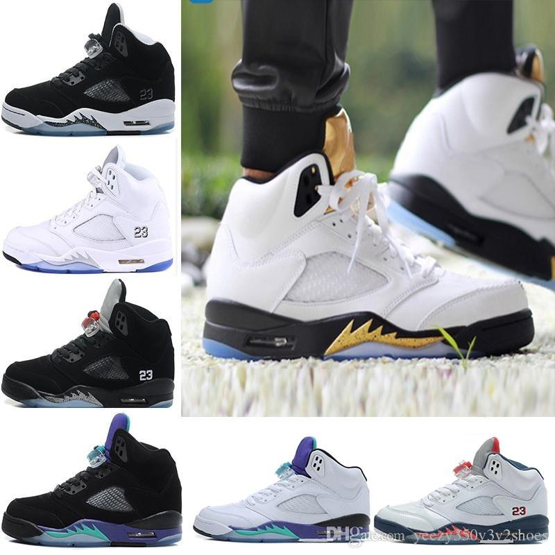 bf92c47492edd6 Retro 5 Flight Suit West East 5s White Cement Camo Basketball Shoes ...