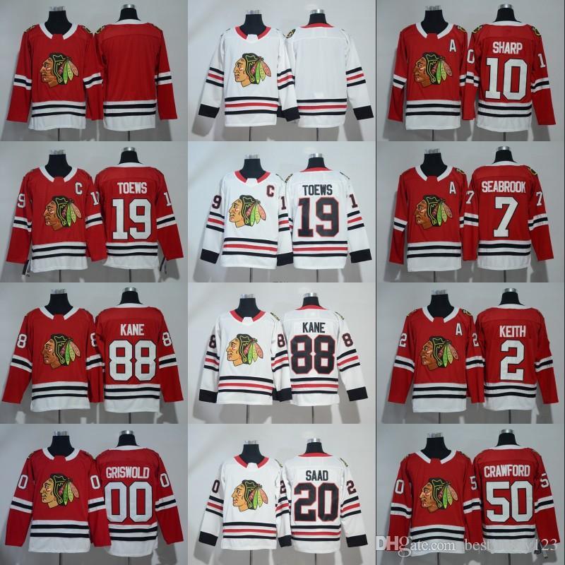 2018 2018 New Chicago Blackhawks Jersey Hockey 2 Duncan Keith 19 Jonathan  Toews 88 Patrick Kane Corey Crawford Patrick Sharp Brandon Ice Jersey From  ... 201401cc33d90