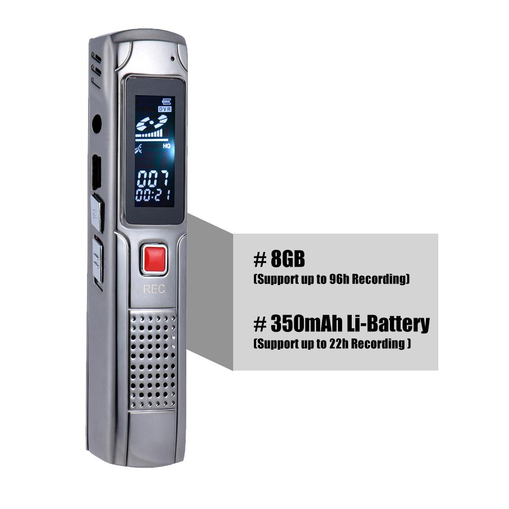 MINI 2 in 1 Professional 8GB Digital Audio Sound Voice Recorder Dictaphone MP3 Player Pen Support A-B Repeat