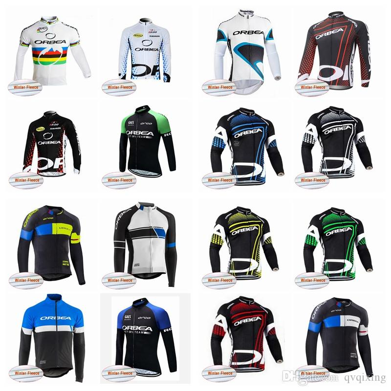 ORBEA Team Cycling Winter Thermal Fleece Jersey Men Long Sleeve ... b219297ca