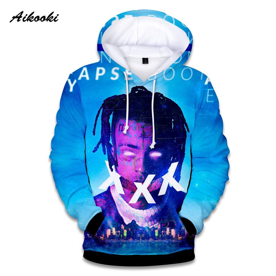 3ad7244e6fb 2019 Aikooki 3D Xxxtentacion Hoodies Men Women Sweatshirt Xxxtentacion  Hoodie Sweatshirt 3D Print Boys Girls Harajuku Cotton Thin Top From Radishu
