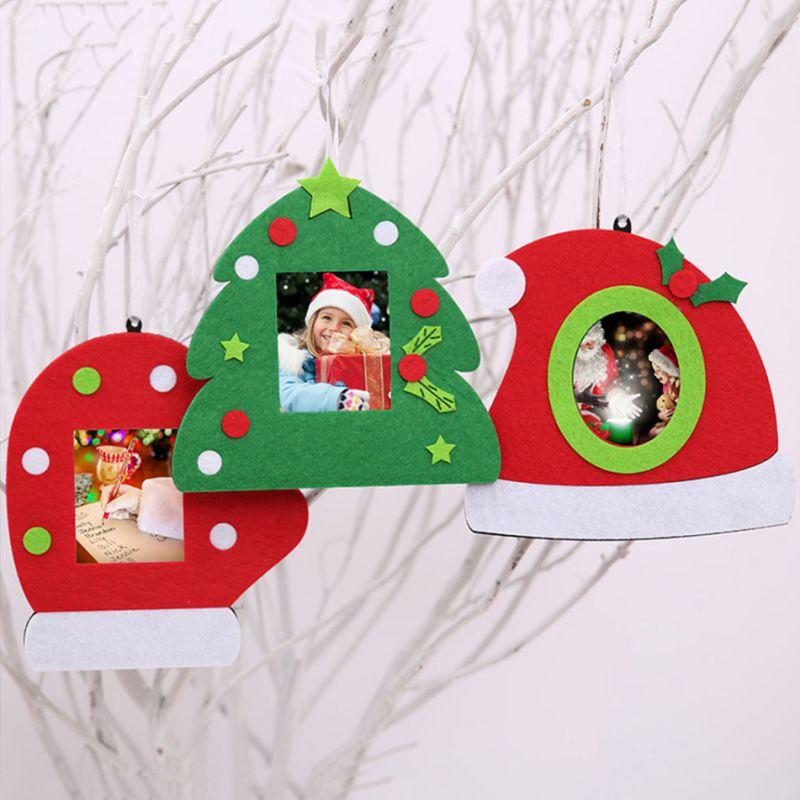 non woven christmas photo frame christmas tree decorations home decoration home garden