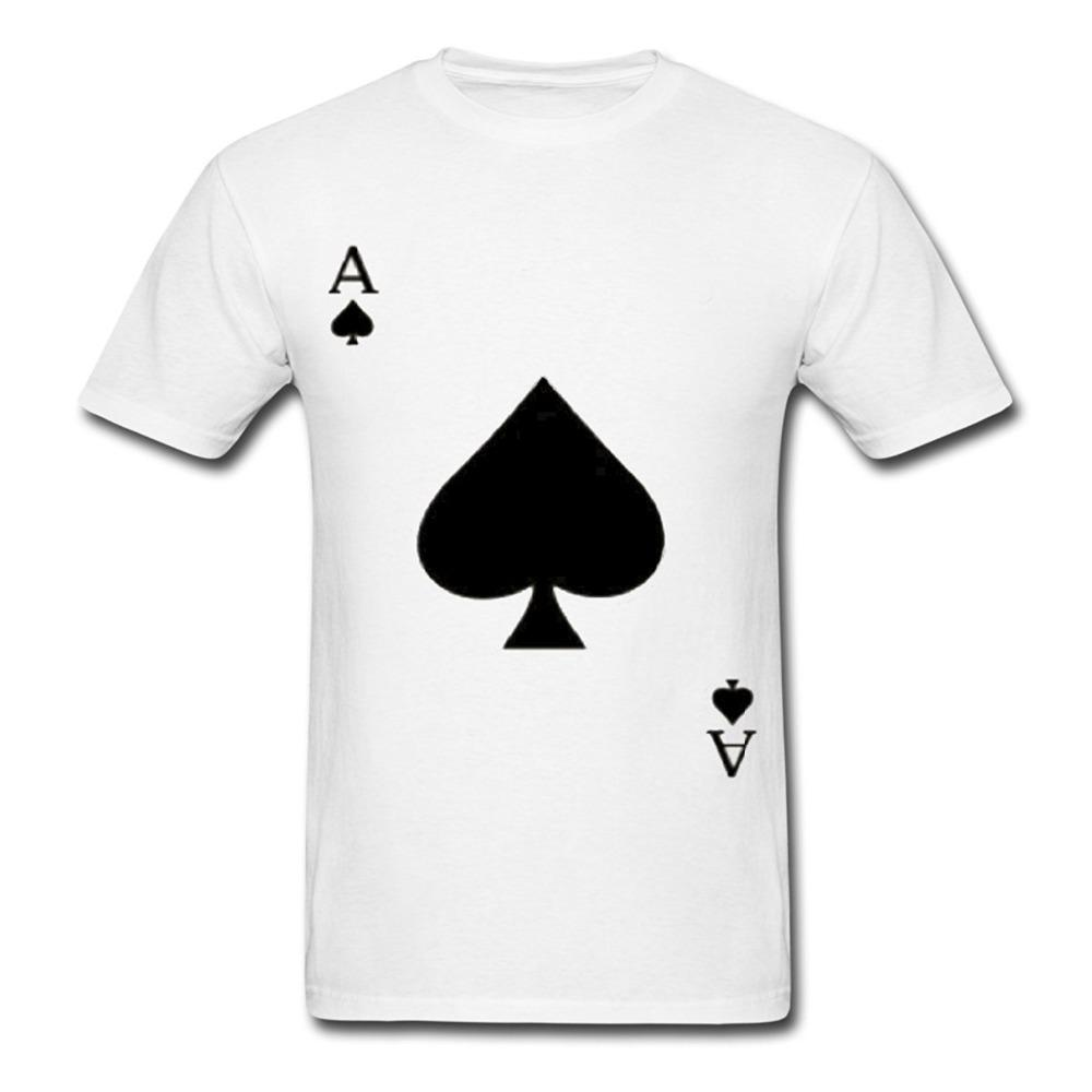 Cheap T Shirt Design Crew Neck Men Ace Of Spades Playing Card Short