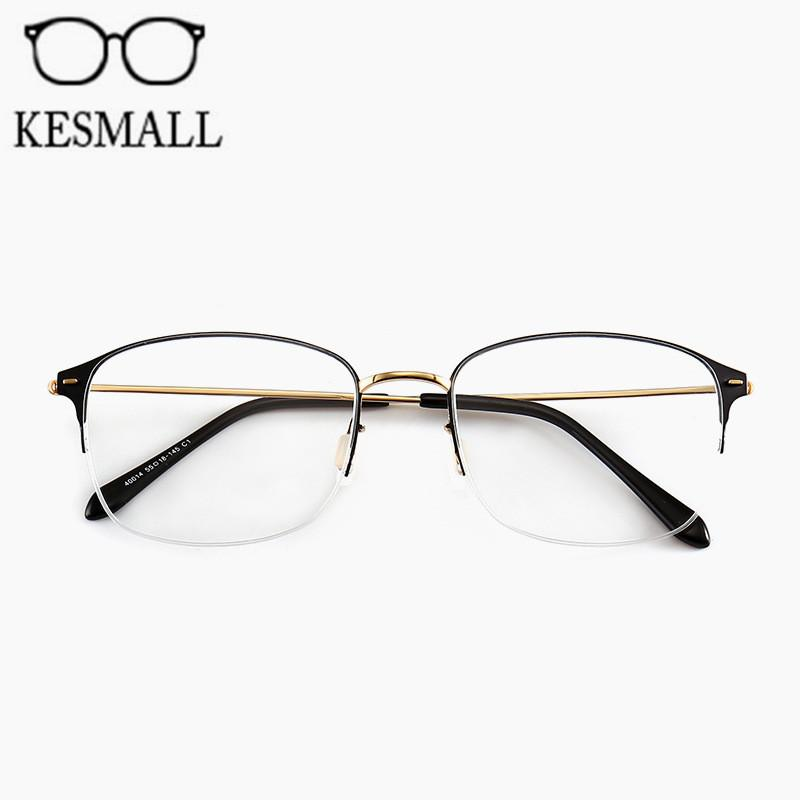 85c4ace7b2c2 KESMALL Fashion Metal Glasses Frame Women Men Optical Eyeglasses ...