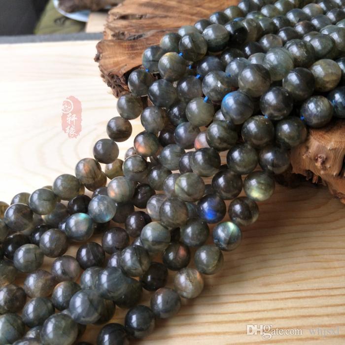 Pick Größe 8mm, 10mm indischer Labradorit Runde glatte lose Edelsteine Perlen 15inch Strand 1 Stück = 1 Strang 15inches Halbedelsteine DIY