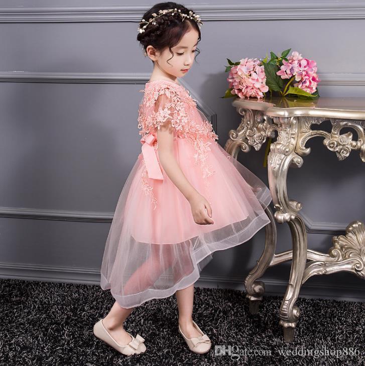 Baby Girls Birthday Pegeant Dresses Kids Summer Dresses for Girls Flower Girl Lace Shawl Dresses for Party and Wedding flower girl dress