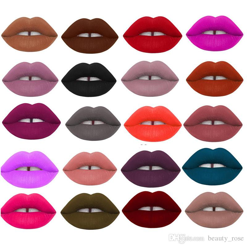 Lip Makeup Long Lasting Lips Matte Lipstick Nude Cosmetic Moistourzing Lip Tint Tattoo Matte Liquid Lip Gloss Make Up