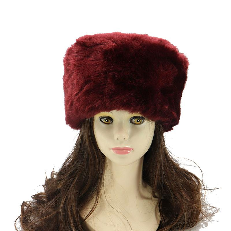 163d7841daf 2019 Winter Hats For Ladies Bomber Hat Fluffy Faux Fox Fur Red Warm ...