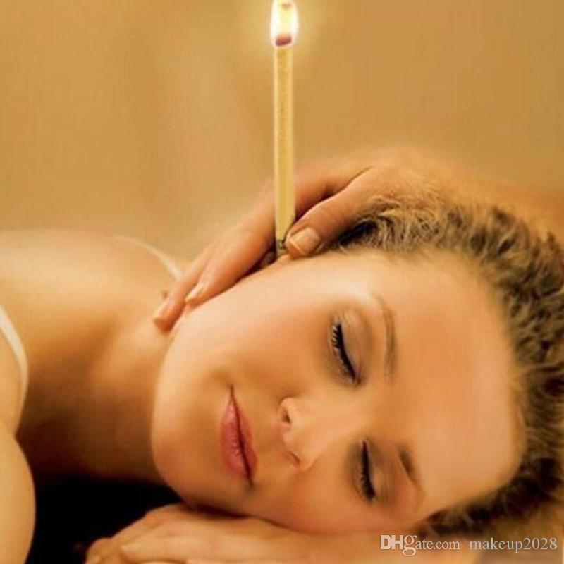 العلاج الطبيعي Beewax شموع الأذن الأذن العناية شموع الهندي Theraphy الأذن شمعة الطب الصينى التقليدى العلاج دي إتش إل الحرة