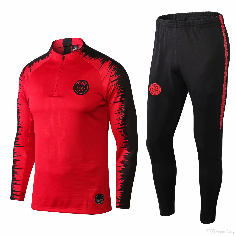 bd9d54254 ... psg adult soccer tracksuit set 2018 19 paris tracksuits 18 19 mbappe  lucas home football jacket