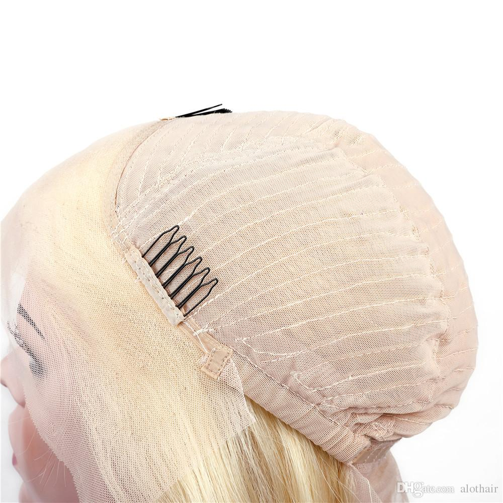 Human Hair Wigs 613 Blonde Lace Front Wig Color #613 Blonde Hair Brazilian Virgin Human Hair Wigs Straight 13*3 Lace Front Wigs