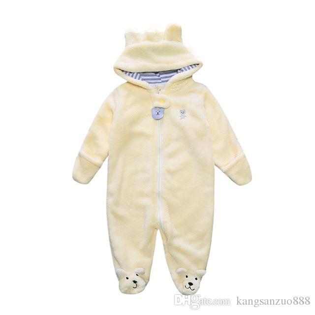 3467c4812 Winter Child Pantyhose Bear Style Children s Coral Fleece Hoodies ...