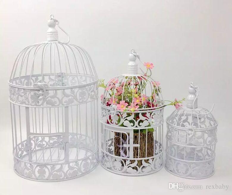 European White And Black Vintage Birds Cage Fashion Cinnamon Iron