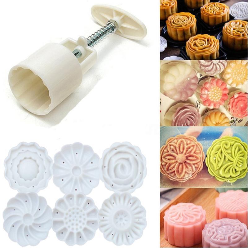 2019 6 Style 3d Rose Flower Mooncake Mold Fondant Candy Pineapple