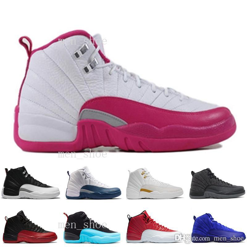 [With Box]Mens Basketball Shoes Air XII 12 Men Women 12s Flu Game French Blue The Master Gym Red Taxi Playoffs Shoes Sport Shoe 5.5-13