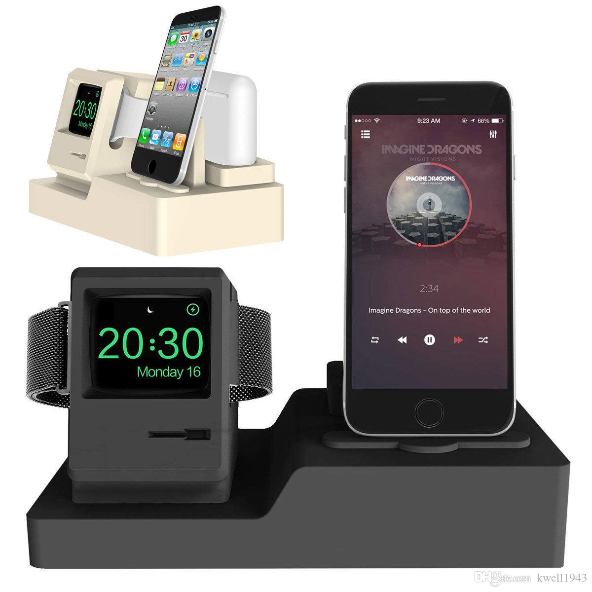 5dd5237e627 2019 3 In 1 Silicone Charging Docks Stand Holder Mount For Apple Watch  Iwatch AirPods IPhone X 8 7 6s Plus From Kwell1943, $24.02 | DHgate.Com