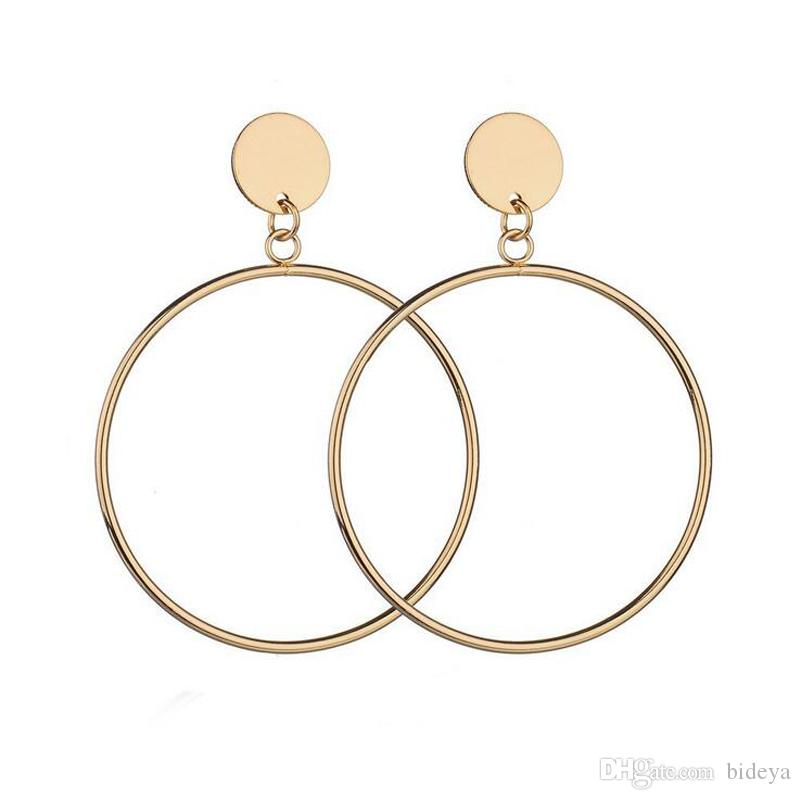Simple Circle Ear Studs 2018 Popular Europe And America Style Hoop ... 86088e980d29