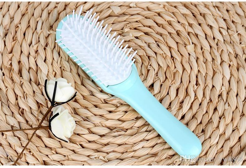 Haarverlängerung Kamm Schleifenbürsten für Haarverlängerungen Perücken Schleifenbürsten in Make-upbürsten Werkzeuge bluePink Farbe