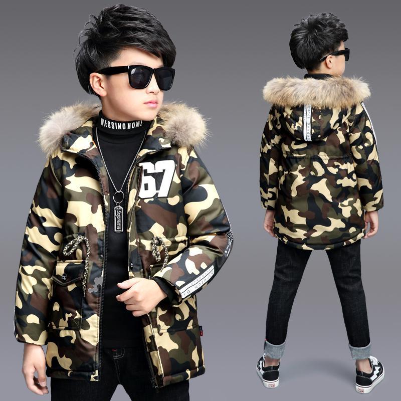 e4013ffd9 New Boy S Camouflage Winter Coat Parka Childen Jackets Warm Boys ...
