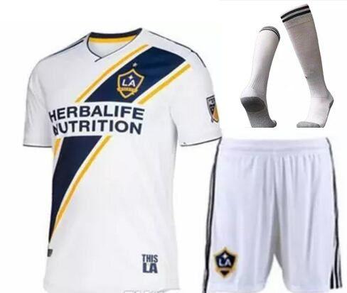 Men 2018 LA Galaxy Jerseys Ibrahimovic 9 Home White Romain ... f75e5ec90