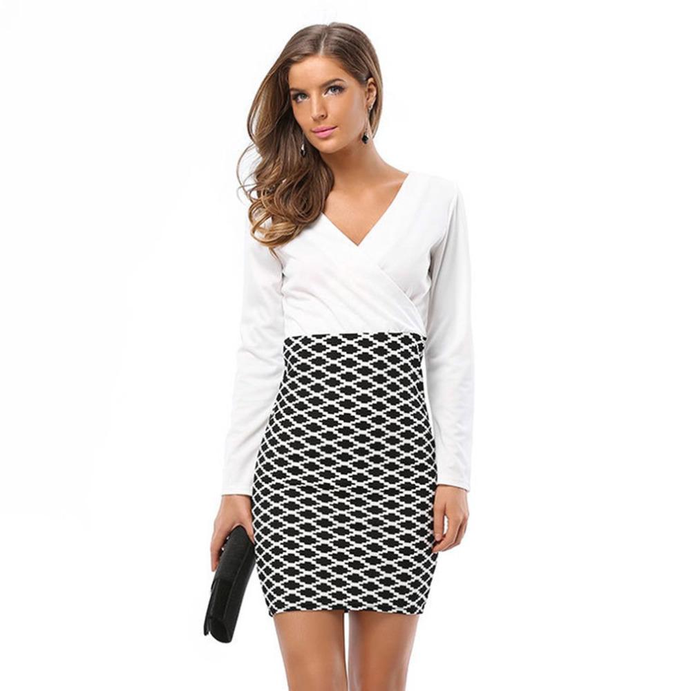 Großhandel Einteiliges Frauen Formales Kleid Modernes Design Sexy V ...