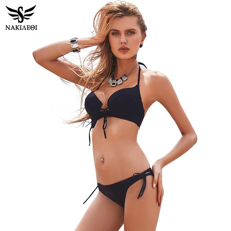 3ccffc18844 2018 New Sexy Bikinis Women Swimsuit Push Up Swimwear Bandage Cut ...