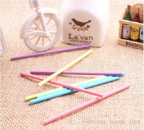 Environmental Food Grade 15CM Colorful Solid Pure Wood Pulp Baking Lollipops Paper Sticks Chocolate Candy Cudgel Pole
