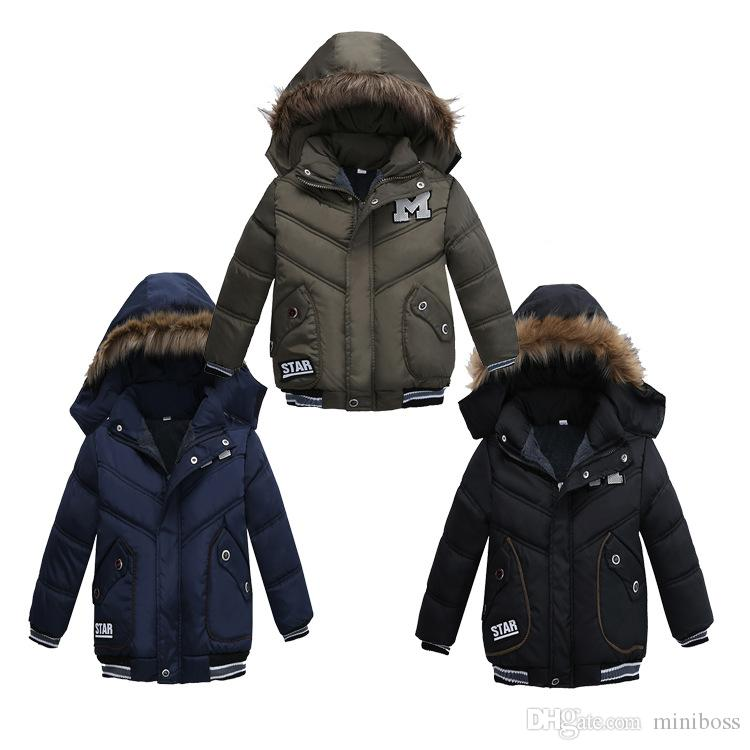 69ae2f72831a Warm Baby Boy Coats Clothes Winter Coats Hot Sales Children Clothing Boy  Thickening Hooded Cotton Jackets Fashion Outerwear Kids