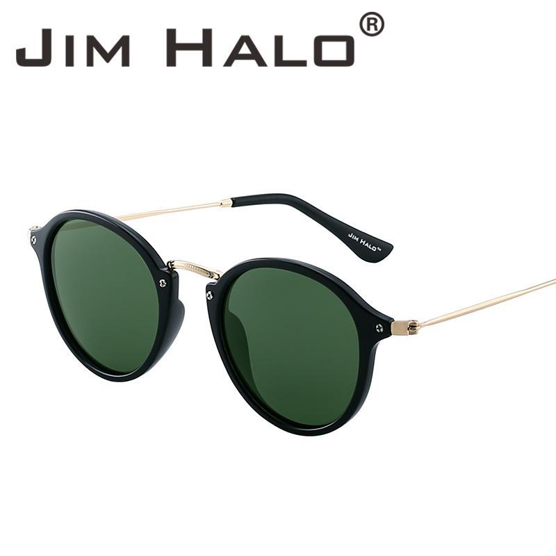 c35c476934c Jim Halo Wholesale Bulk Sale Polarized Small Mirror Tinted Round Sunglasses  Circle Lens Men Women Fasion Sun Glass C18110201 Sunglasses Case  Knockaround ...