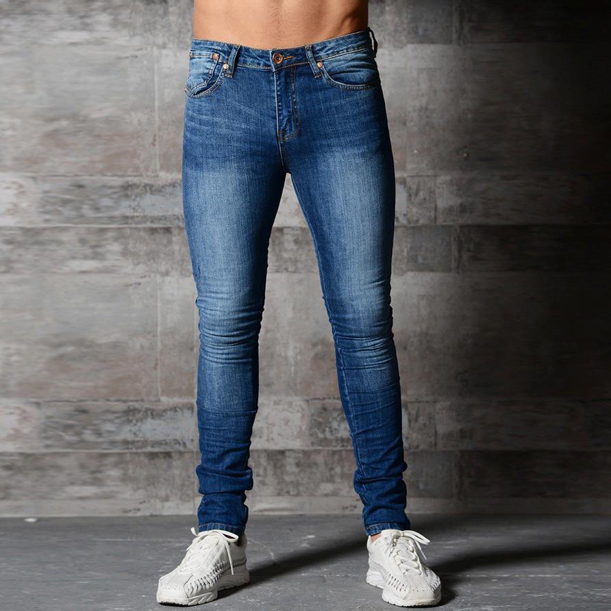 ddf0085769af5 Skinny Jeans Männer Schwarz Klassische Hip Hop Stretch Jeans Slim Fit Mode  Berühmte Marke Biker 2018 New Style Tight