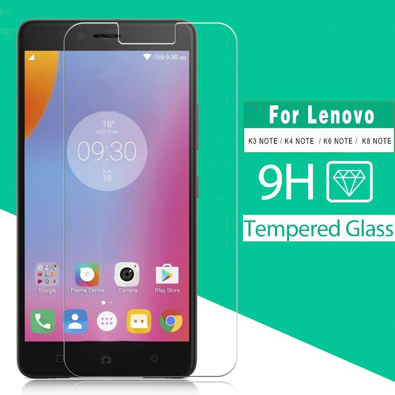Tempered Glass Film For Lenovo K3 K50a40 K4 K6 K53a48 K8 Note XT1902-3  Screen Protector Film Glass of Transparent&Ultra-thin