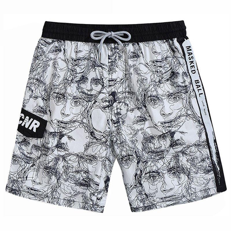 ba92cd2e91e Fashion Casual Shorts Men Beach Board Shorts Summer Brand Cotton Hip ...