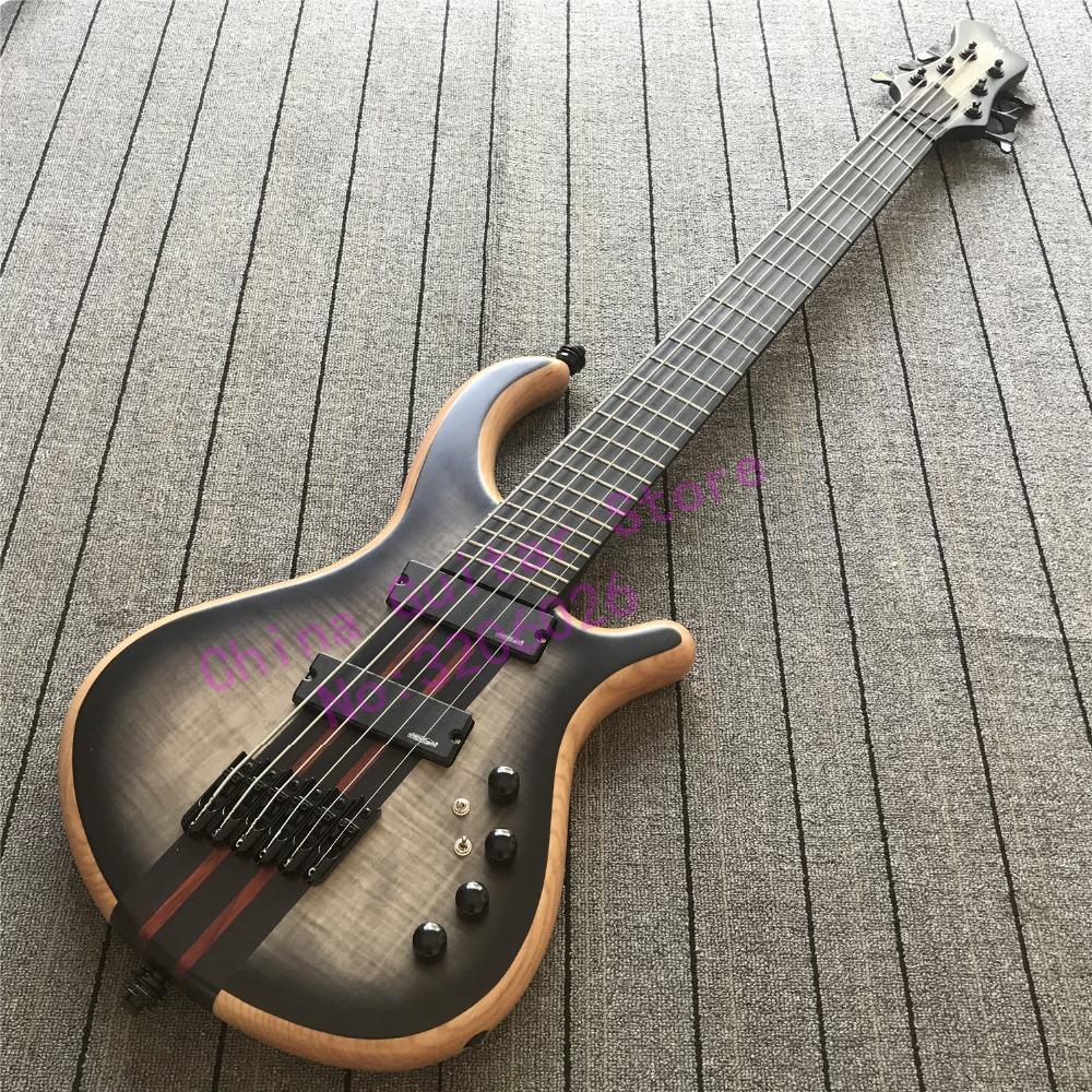 6 strings setius fanned frets bass guitar ebony fretboard through wenge neck multi scaled bass. Black Bedroom Furniture Sets. Home Design Ideas