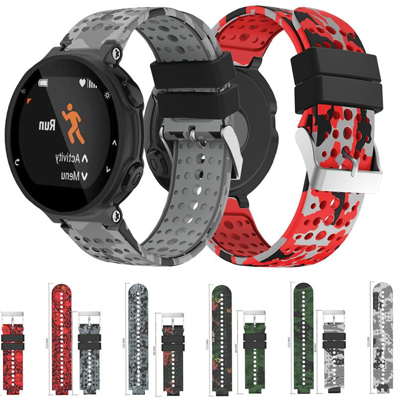 d61878c46544 Compre Garmin Forerunner 220 Silicone Strap Replacement Para Garmin  Forerunner 735XT   220 230 235 620 630 Rubber Watch Strap Wristband A   17.11 Del ...