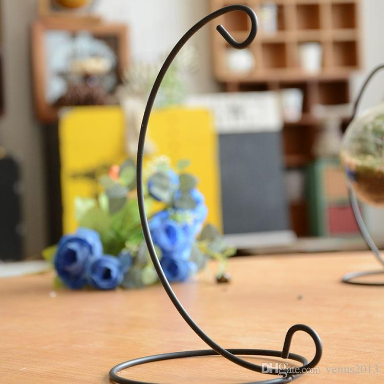 Hot Sale Iron Wedding Candle Holder Moroccan Candlestick Glass Ball Hanging Bracket Stand