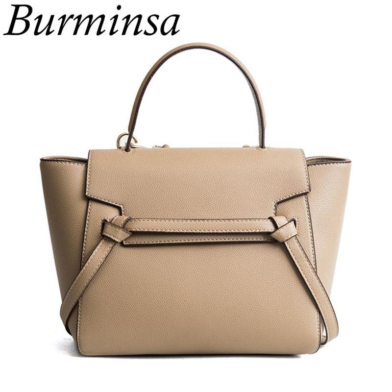 Burminsa Classic Belt Knot Tote Bags Women Messenger Bags Designer ... 3799730fe7a15