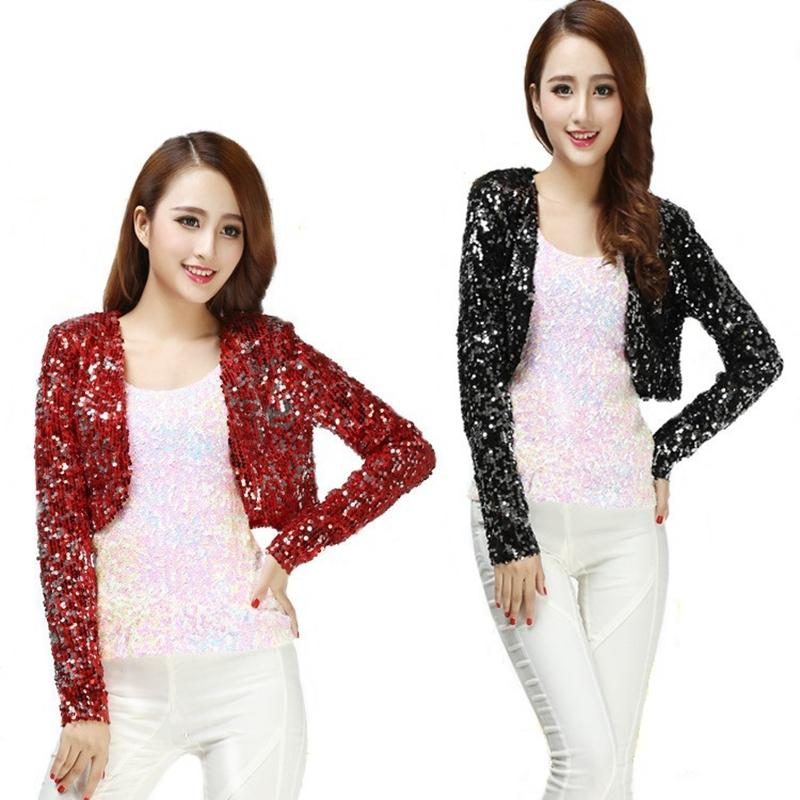 95aa608cb3fc 2019 Bling Sequined Coat 2017 New Fashion Women Ds Clubwear Sparkly ...